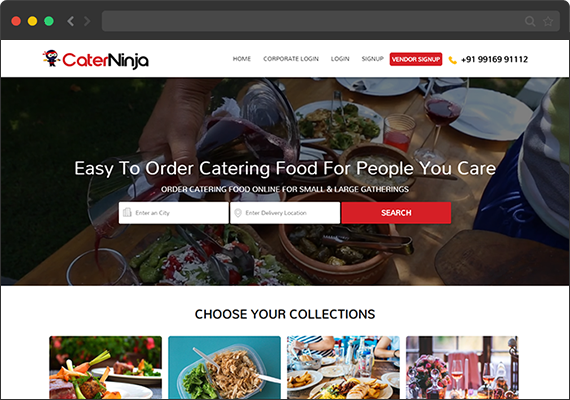 Food ordering and delivery system in Bangalore, Mumbai  Caterninja